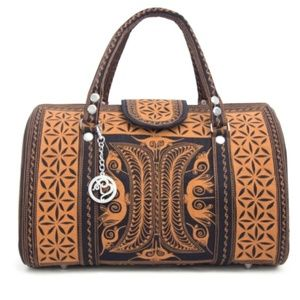 BANDA BAGS Kuasa Brown Mini Weekender Boho Bag